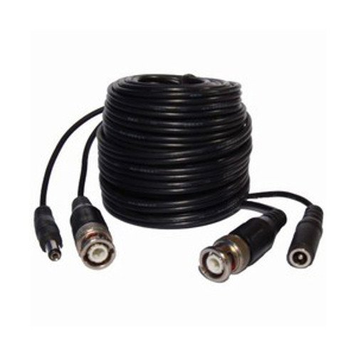 Premade Siamese Coax Video/Power Combo Cable 60FT