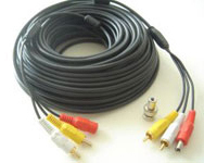 Premade Siamese Coax AUDIO/Video/Power Combo Cable 100FT (Black Only)