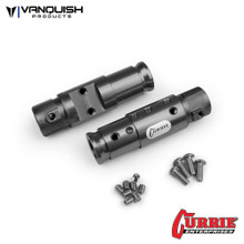 Currie SCX10 Front Tubes Grey Anodized