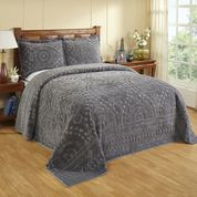 gray and white bedroom bedspreads matching curtains cotton chenille 15454