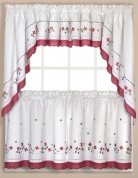 ... Gingham Floral Kitchen Curtains   Red ...