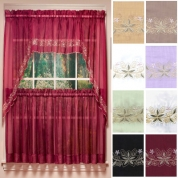 Attrayant ... Emelia Embroidered Sheer Kitchen Curtains ...