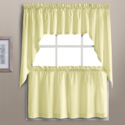 Ordinaire ... Dorothy Swiss Dot Kitchen Curtains   Yellow ...