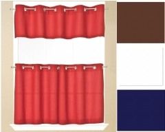 Jackson Grommet Top Solid Kitchen Curtains