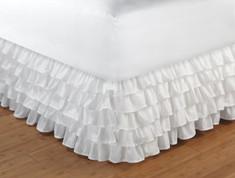 """Ruffled Bedskirt Full - 15"""" DROP"""