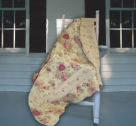 Antique Rose Throw Blanket
