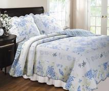 Coral Blue Quilt Set -Full/Queen