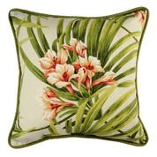 Cozumel Square Throw Pillow - Print