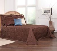 Gardenia Bedspread Full - Espresso
