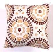 Melina Throw Pillow - Chocolate