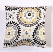 Melina Throw Pillow - Charcoal