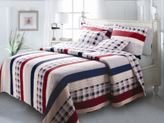 Nautical Stripes Quilt Set - Full/Queen