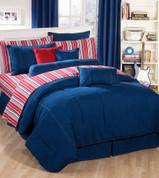 American Denim - 4pc Queen Comforter Set by Kimlor