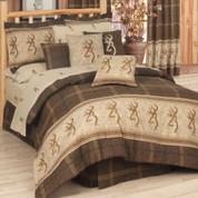 Browning Buckmark Twin Sheet Set - Brown