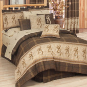 Browning Buckmark Queen Sheet Set - Brown