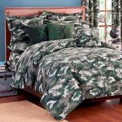 Camo Green 3pc Queen Comforter Set