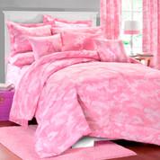 Camo Pink Square Pillow - Dark