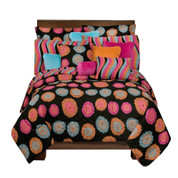 Flower Fantasy Square Pillow - Pink