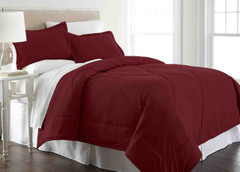Micro Flannel - 3pc F/QUEEN Comforter Set - Wine from Shavel