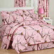 Realtree AP - Square Throw Pillow - Pink