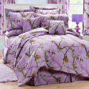 Realtree AP - Square Throw Pillow - Lavender