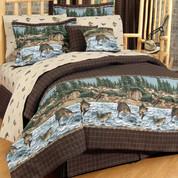 River Fishing - 4pc King Comforter Set