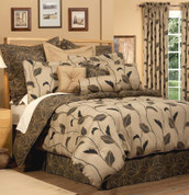 Yvette - 4 pc QUEEN Comforter Set - Stone