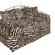 Brown Zebra Square Throw Pillow