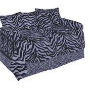 Lavender Zebra Lined Curtain pair