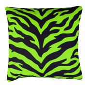 Lime Zebra Square Pillow