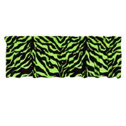 Lime Zebra Valance