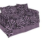 Pink Zebra Square Pillow