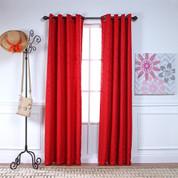 Adrian Grommet Top Curtain Panel - CHERRY