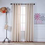 Adrian Grommet Top Curtain Panel - IVORY
