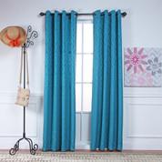 Adrian Grommet Top Curtain Panel - TEAL