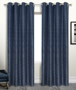 Brighton Foamback Grommet Top Curtain Panel - NAVY