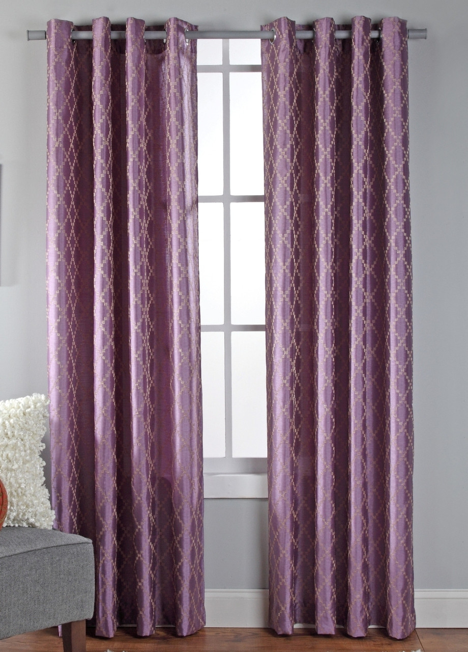 Broadway Grommet Top Curtain Panel Lilac Linens4less Com
