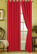 Elaine Grommet Top Curtain - Red