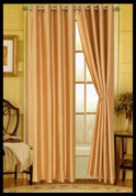 Elaine Grommet Top Curtain - Gold