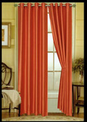 Elaine Grommet Top Curtain - Orange