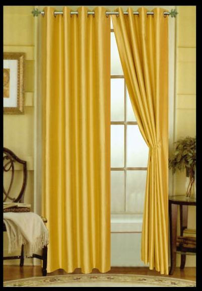 Elaine Grommet Top Curtain Yellow Spicy Mustard
