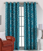 Lafayette Grommet Top Curtain Panel  - Teal