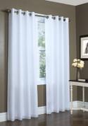 Rhapsody Lined Sheer Grommet Top Curtain - WHITE