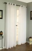 Rhapsody Lined Sheer Grommet Top Curtain - IVORY