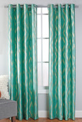 Stanton Grommet Top Curtain Panel  - Teal