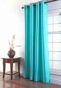 Tribeca Faux Silk Grommet Top Panel - TURQUOISE