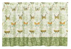 "Butterfly Bliss 36"" kitchen curtain tier"