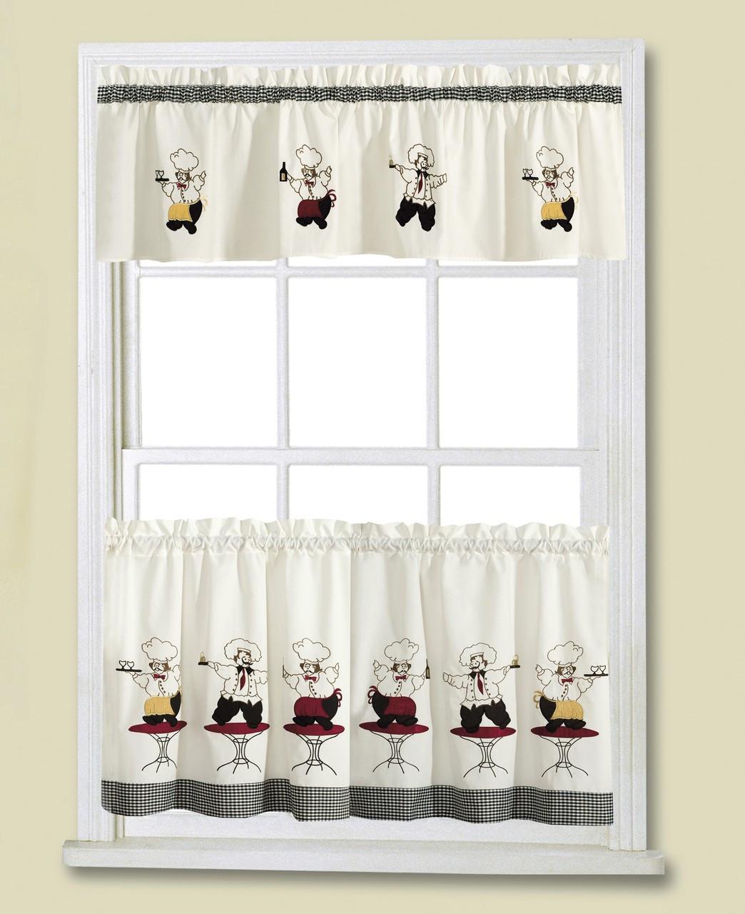 Chef Kitchen Curtains: Cheers Chef Kitchen Curtain