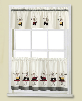 Cheers Chef Kitchen Curtain Linens4less Com