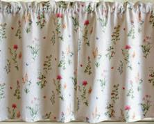"""English Garden 36"""" kitchen curtain tier (pr)"""